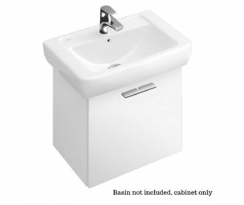 V&B Central Line Vanity Unit - 450 x 410 x 380 In Glossy White - Model 9870E2DH